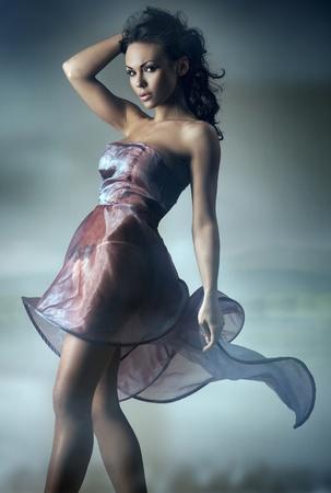 Sexy brunette posing photo