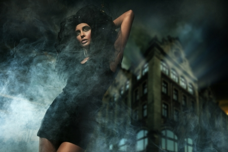 Horror style photo of a beautiful lady Stock Photo - 9065252