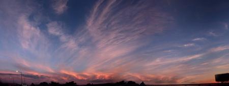 Beautiful cloudy sunset photo