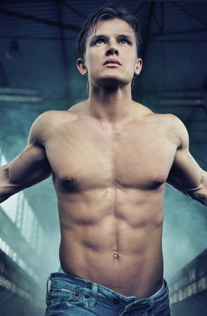 sixpack: Portrait of an attractive athlete