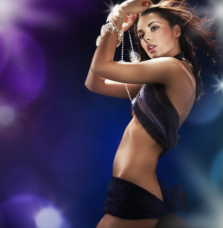 Pretty babe dancing in a nightclub Stock Photo - 9068199
