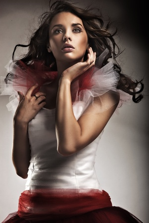 Young lady wearing gorgeous dress Stock Photo - 9070889