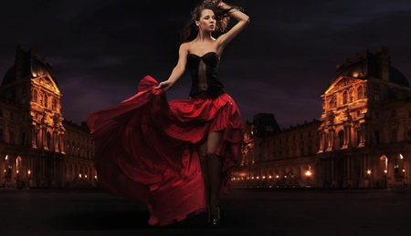 Gorgeous flamenco dancer photo