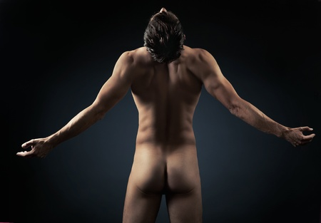 boy  naked: Photo of young muscular man