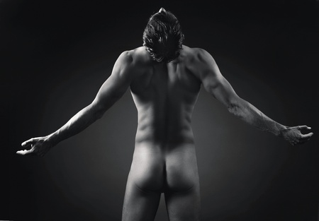 boy  naked: Artistic photo of athletic man