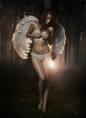 Fine art photo of a woman-angel photo