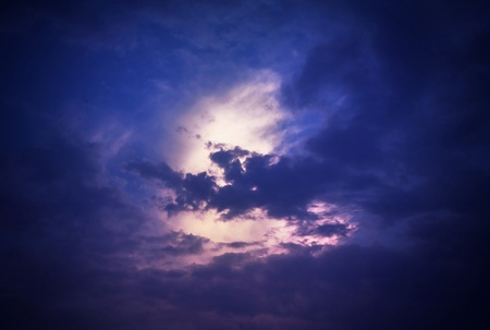 Moonlight sky photo