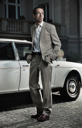 Handsome man next to the car Stock Photo - 9078226
