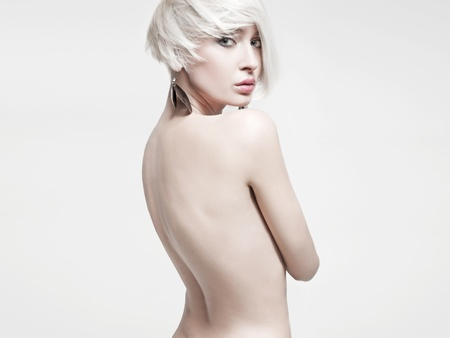 Vogue style photo of a naked woman photo