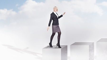 Young businesswoman getting promotion Stock Photo - 9070895
