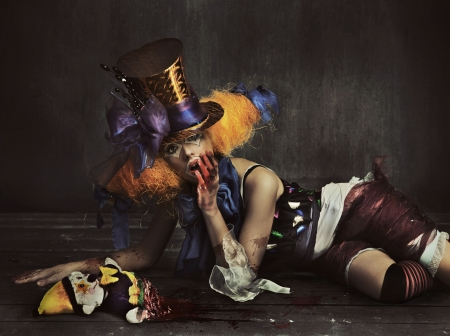 Scary monster clown photo