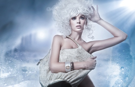 Blonde beauty with bag Stock Photo - 9189404