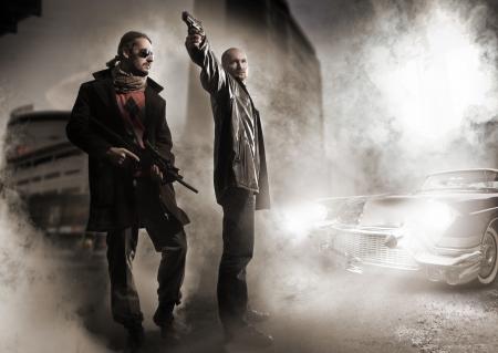 hijacker: Mafiosos y con estilo viejo coche