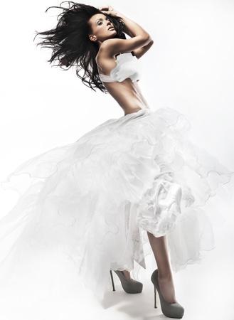 romantic sexy: Beautiful woman Stock Photo
