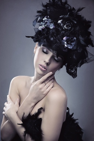 Portrait of a fashionable lady photo
