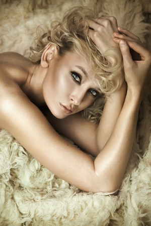 Sensual blonde posing photo