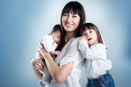 Beauty mother with her children photo