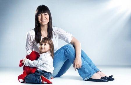 Mother with her daughter photo