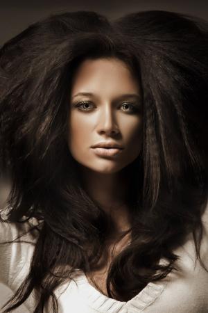 Portrait of a beauty brunette Stock Photo - 9336341