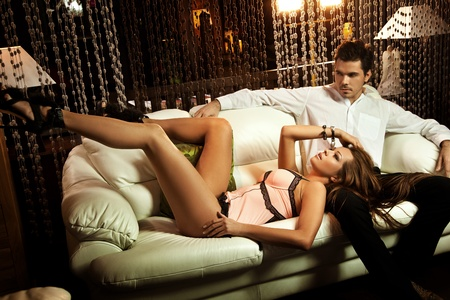 Sexy couple in an intimate situation Stock Photo - 9336330