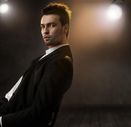 elegance: Gorgeous fashion style photo of an elegant man Stock Photo