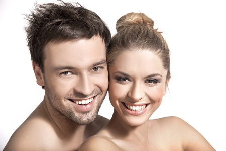 natural cosmetics: Portrait of a happy married