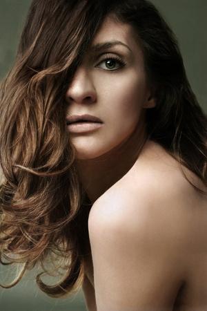 Portrait of beautiful fashion model Stock Photo - 9468020