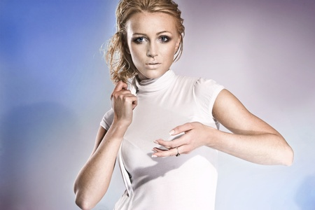 futuristic woman with blond hair Stock Photo - 9343122
