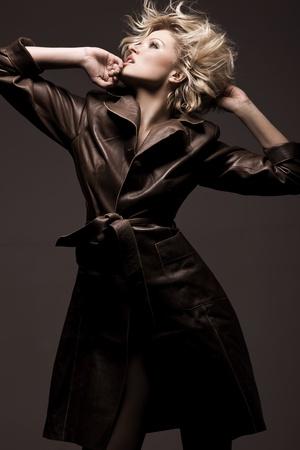 Photo of a beauty woman wearing coat Stock Photo - 9512899