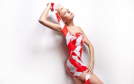 Beautiful young lady posing in amazing dress Stock Photo - 9512842