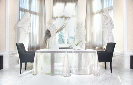 Dining room in beautiful home Stock Photo - 9519521