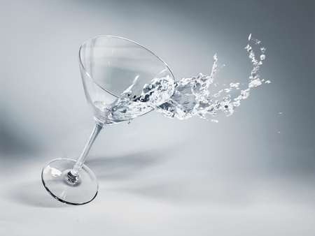 Glass of water and ice on a nice background photo