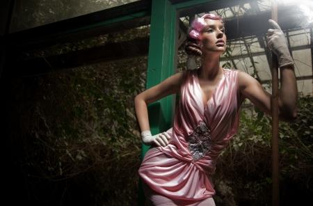 classy woman: Beauty woman in fashionable dress