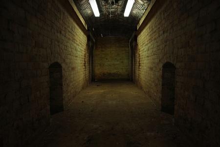 a dark tunnel photo