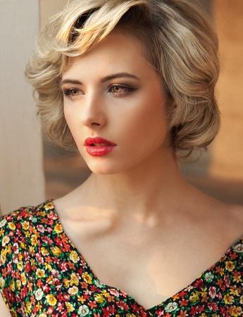 Portrait of a perfect blonde beauty Zdjęcie Seryjne