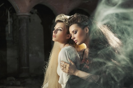 advantaged: two beautiful ladies