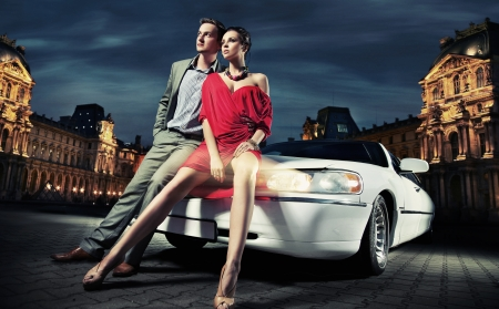 fashionable couple going to party Stock Photo - 9680797