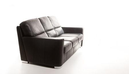 isolated black couch against white background Stock Photo - 9941701