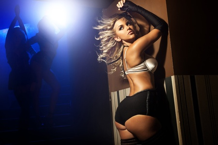 nude woman sexy: Blonde beauty wearing sexy lingerie