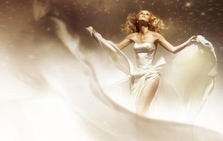 avantegarde: Sexy woman wearing wedding dress