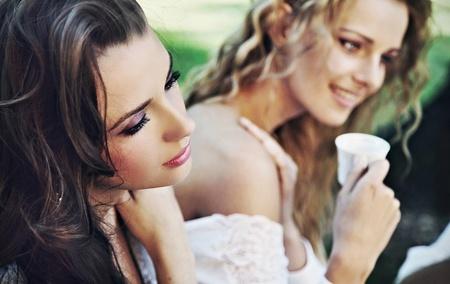 Two ladies having lunch break Stock Photo - 9965451