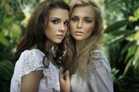 beauties: Two young beauties Stock Photo