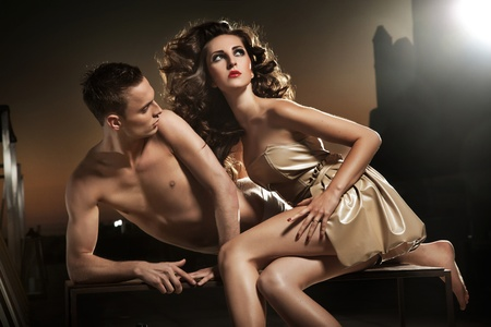 Photo of handsome sexy couple posing Stock Photo - 10101745