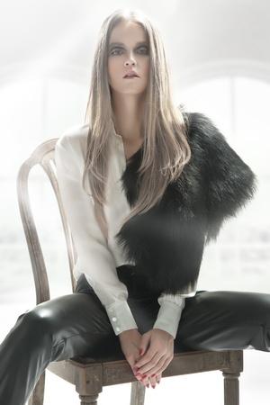 Elegant blond beauty photo
