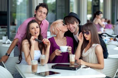 Cheerful young people Stock Photo - 10428333