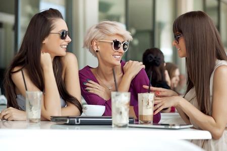 Vergadering van vrienden Stockfoto