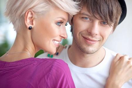 Portrait of a cute couple photo
