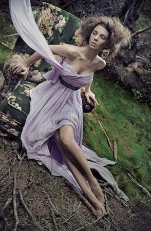 Glamorous woman wearing beautiful dress Stock Photo - 10428347