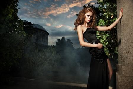 Sexy woman in stylish garden Stock Photo - 10827923