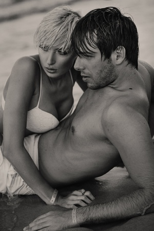 Intimacy on the sand photo